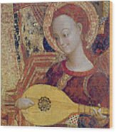Angel Musician Wood Print