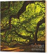 Angel Oak Limbs Crop 40 Wood Print