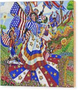 Angel Of American Patriotism Wood Print