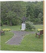 Angel Of Hope At The Putnam County Veteran Memorial Park Wood Print