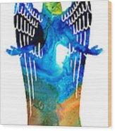Angel Of Light - Spiritual Art Painting Wood Print