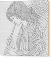 Angel Of Music Wood Print by Lorraine Foster