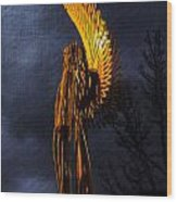 Angel Of The Morning Textured Wood Print