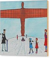 Angel Of The North Wood Print