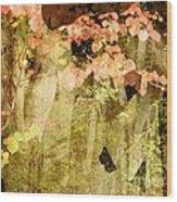 Angel Of The Woods Wood Print