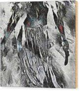 Angel Of Winter Wood Print
