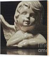 Angel On The Table Wood Print