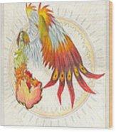 Angel Phoenix Wood Print