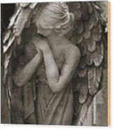 Angel Photography Spiritual Angel  - Guardian Angel In Prayer - Angel Praying  Wood Print