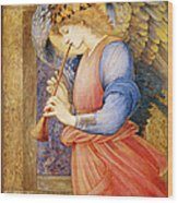 Angel Playing A Flageolet Wood Print