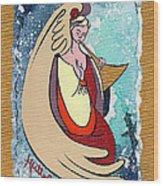 Angel Playing For Us No1 Wood Print