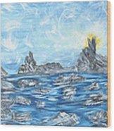 Angel Rock Wood Print