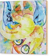 Angel Sala Bin Wood Print