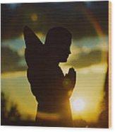 Angel Silhouette Wood Print