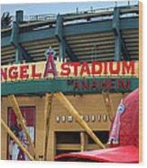 Angel Stadium Wood Print