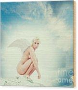 Angel Wood Print by Stelios Kleanthous