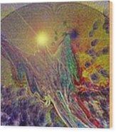 Angel Taking Flight Wood Print