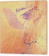 Angel Time  Wood Print