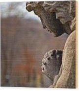 Angel Watching Over Wood Print