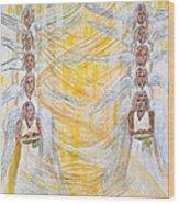Angel Winds Flames Of Fire Wood Print