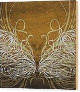 Angel Wings Gold Wood Print
