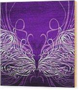 Angel Wings Royal Wood Print