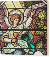 Angel With A Chalice Wood Print