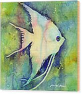 Angelfish I Wood Print