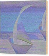 Angelfish3 Wood Print