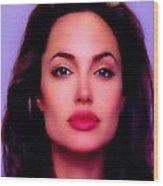 Angelina Jolie Beautiful Lips Wood Print