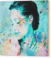 Angelina Jolie Heart And Soul Wood Print