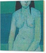 Angelina Nude Wood Print