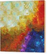 Angels Among Us - Emotive Spiritual Healing Art Wood Print