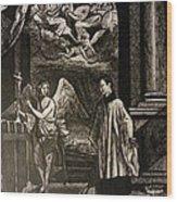 Angels And Saints Wood Print