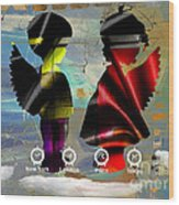 Angels Flight Wood Print