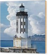 Angel's Gate Lighthouse Wood Print