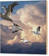 Angels In Flight Wood Print