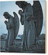 Angels In Prayer Wood Print