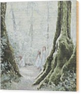 Angels In The Mist Wood Print