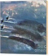 Angels Inna Clouds Wood Print