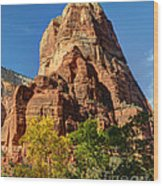 Angel's Landing In Fall - Zion National Park  Wood Print