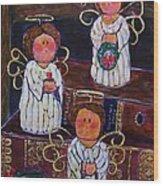 Angels Wood Print by Linda Vaughon