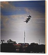 Angels Over Ft. Mchenry 2 Wood Print