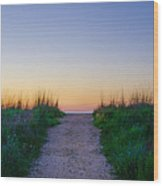 Angelsea Beach Path Before Sunrise Wood Print