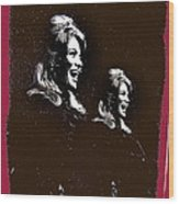 Angie Dickinson Laughing Collage Young Billy Young Set Old Tucson Arizona 1968-2013 Wood Print