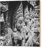 Angkor Beautiful Apsaras Wood Print