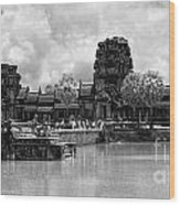 Angkor Black White Wood Print