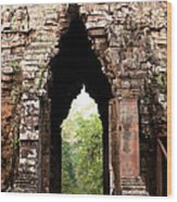 Angkor Thom East Gate 02 Wood Print