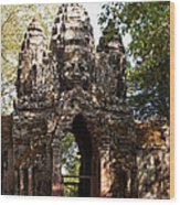 Angkor Thom North Gate 01 Wood Print