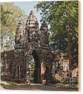 Angkor Thom North Gate 02 Wood Print